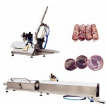 Pneumatic Ham Stuffer with Stretching Clipper for Meat Stock, Mutton Rolls, Beef Rolls